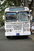 Lanka Ashok Leyland tour coach bus on hire intown of Galle, Sri Lanka, Asia