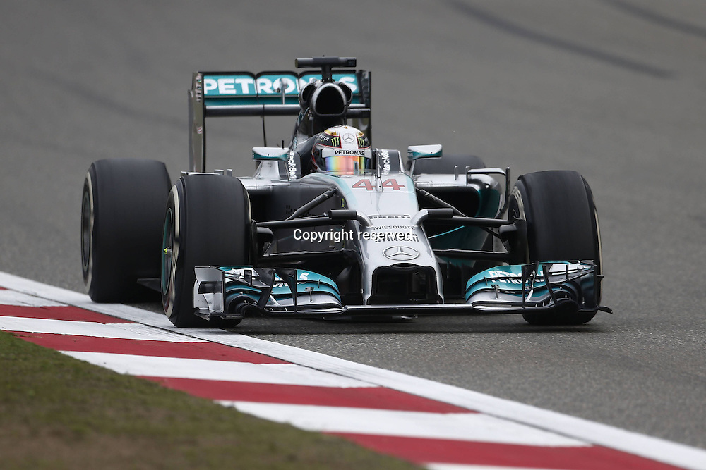 20.04.2014. SHanghai, China.  Motorsports: FIA Formula One World Championship 2014, Grand Prix of China, 44 Lewis Hamilton (GBR, Mercedes AMG Petronas F1 Team) on his way to winnign the race