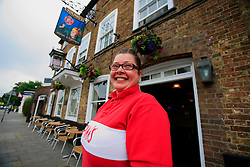 "UNITED KINGDOM WIMBLEDON 26JUN09 - Nichola Green (36), pub landlady at the Rose & Crown pub poses for a photo in Wimbledon Village, Boris Becker's new home in London. The newlyweds Boris Becker & Sharlely ""Lilly"" Kerssenberg have recently moved into a 6-million pound property in Burghley Road, Wimbledon, London...jre/Photo by Jiri Rezac..© Jiri Rezac 2009"