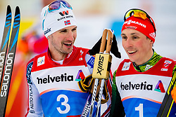 February 22, 2019 - Seefeld In Tirol, AUSTRIA - 190222 Jan Schmid of Norway and Eric Frenzel of Germany after competing in men's nordic combined 10 km Individual Gundersen during the FIS Nordic World Ski Championships on February 22, 2019 in Seefeld in Tirol..Photo: Vegard Wivestad GrÂ¿tt / BILDBYRN / kod VG / 170288 (Credit Image: © Vegard Wivestad Gr¯Tt/Bildbyran via ZUMA Press)