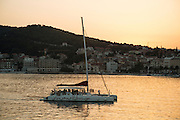 Travel in Croatia<br /> <br /> A sailboat arriving in Split harbor.<br /> <br /> June 2013<br /> Matt Lutton