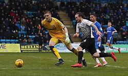Jack Marriott of Peterborough United is closed down by Tomas Holy of Gillingham - Mandatory by-line: Joe Dent/JMP - 10/02/2018 - FOOTBALL - MEMS Priestfield Stadium - Gillingham, England - Gillingham v Peterborough United - Sky Bet League One