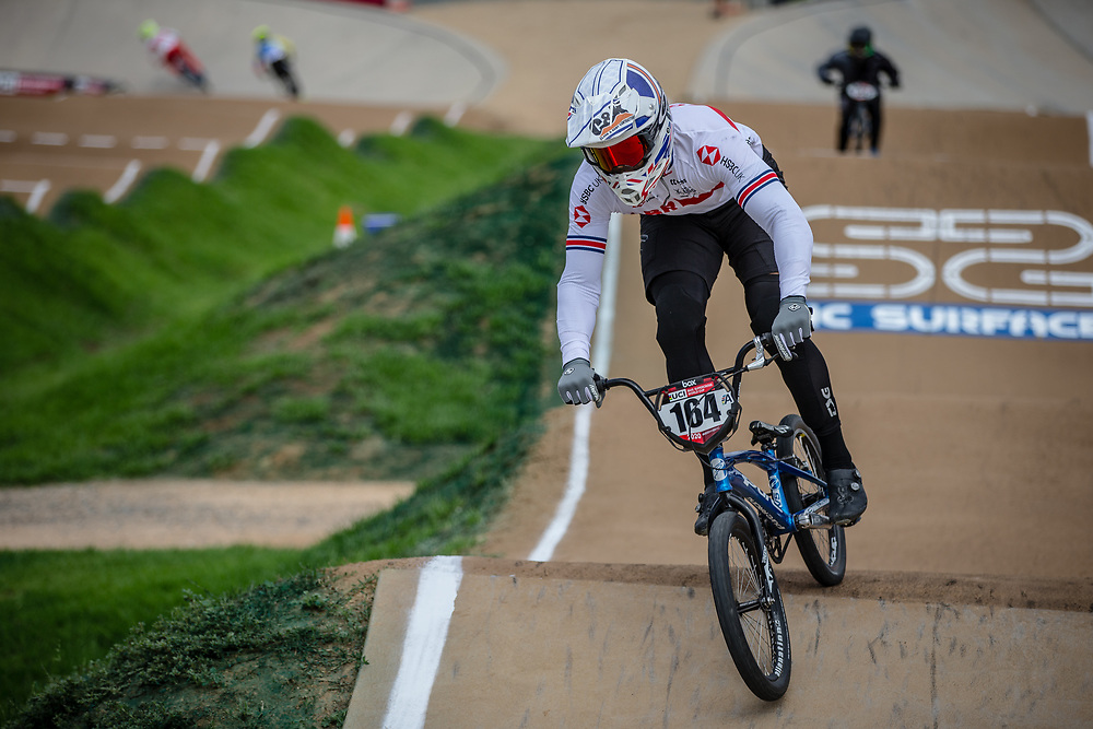 #164 (ISIDORE Quillan) GBR at Round 2 of the 2020 UCI BMX Supercross World Cup in Shepparton, Australia.