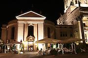 restaurant terrace at midnight, berlin, germany