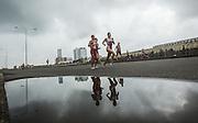 Cartagena, Colombia: October, 12, 2014 - The elite women's race of the 2014 Cartegena ITU Triathlon World Cup in Cartagena, Colombia October  12, 2014. (ARNOLD LIM, Arnold Lim / ITU).