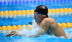 Richard Nagy competes in the Men's Open 400m Individual Medley heats during day three of the 2017 British Swimming Championships at Ponds Forge, Sheffield.