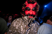 CRAZY CLUBBER IN DEVIL MASK