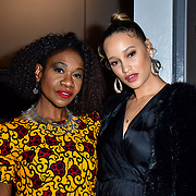 Karen Bryson, Elarica Johnson attend TriForce Short Festival, on 30 November 2019, at BFI Southbank, London, UK.