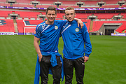 James Jennings and Joe Stokes Forest Green Rovers Football Club Familiarisation visit to Wembley Stadium, London, England on 10 May 2016. Photo by Shane Healey.