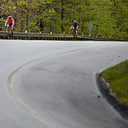 NELLYSFORD, VA - MAY 6: Ben makes his way up Wintergreen during the Wintergreen Hill Climb championships on Saturday, May 6, 2017 in Nellysford, Va. (Photo by Jay Westcott/The News & Advance)