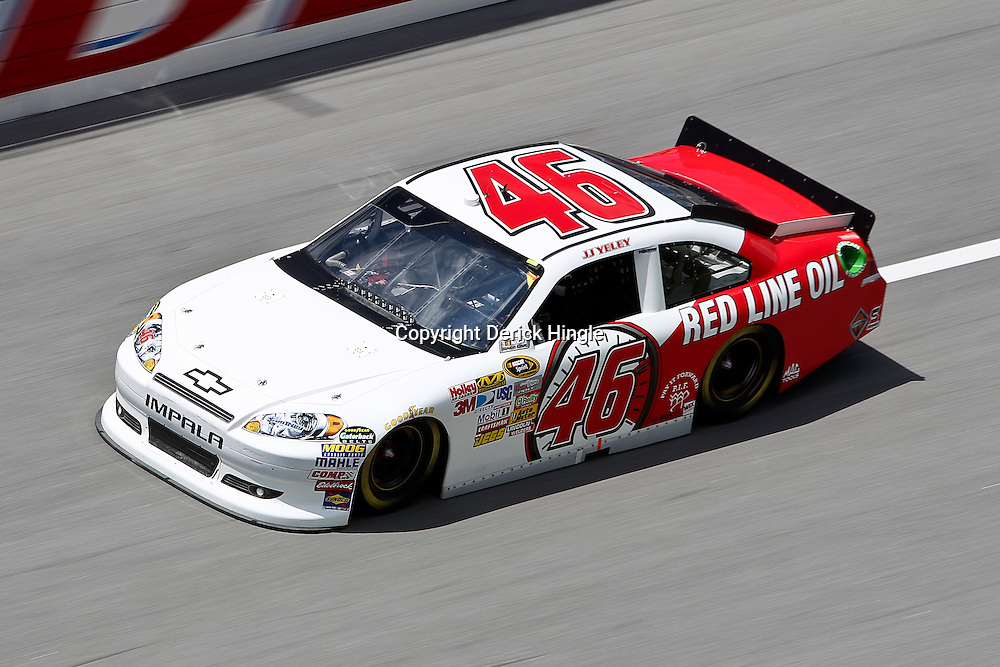 April 16, 2011; Talladega, AL, USA; NASCAR Sprint Cup Series driver Bill Elliott (46) during qualifying for the Aarons 499 at Talladega Superspeedway.   Mandatory Credit: Derick E. Hingle
