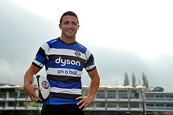 New arrival and rugby league convert Sam Burgess poses during a Bath Rugby photocall at the Recreation Ground - Photo mandatory by-line: Patrick Khachfe/JMP - Mobile: 07966 386802 30/10/2014 - SPORT - RUGBY UNION - Bath - The Recreation Ground - Bath Rugby Photocall with Sam Bugess