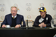 Hampshire County Cricket Club's Chairman Rod Bransgrove and new signing Sam Northeast during the new signing press conference for Hampshire County Cricket Club at the Ageas Bowl, Southampton, United Kingdom on 23 February 2018. Picture by Dave Vokes.