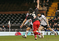 Photo: Lee Earle.<br /> Fulham v Stoke City. The FA Cup. 27/01/2007.Fulham'a Tomasz Radzinski (R) scores their third.