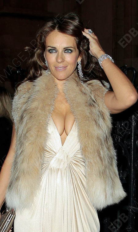 05.SEPTEMBER.2010. LONDON<br /> <br /> LIZ HURLEY ATTENDS A PARTY TO CELEBRATE THE RECIVING OF BRITISH CITIZENSHIP FOR RUSSIAN NEWS PAPER MOGUL ALEXANDER LEBEDEV AT THE ROYAL COURTS OF JUSTICE IN THE STRAND.<br /> <br /> BYLINE: EDBIMAGEARCHIVE.COM<br /> <br /> *THIS IMAGE IS STRICTLY FOR UK NEWSPAPERS AND MAGAZINES ONLY*<br /> *FOR WORLD WIDE SALES AND WEB USE PLEASE CONTACT EDBIMAGEARCHIVE - 0208 954 5968*