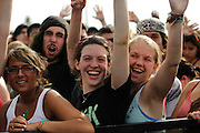 Crowd during Motion City Soundtrack's performance at The Bamboozle in East Rutherford, New Jersey. May 2, 2010. Copyright © 2010 Matt Eisman. All Rights Reserved.