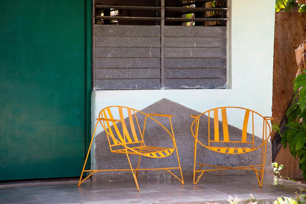 Porch chairs in San Ramon, Granma, Cuba.