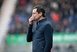 St Mirren's manager Jack Ross. Falkirk 3 v 1 St Mirren, Scottish Championship game played 3/12/2016 at The Falkirk Stadium.