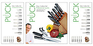 Packaging shots of cutlery set by Wolfgang Puck.