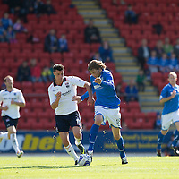 St Johnstone v Ross County...17.08.13 SPFL<br /> Murray Davidson and Steven Ross<br /> Picture by Graeme Hart.<br /> Copyright Perthshire Picture Agency<br /> Tel: 01738 623350  Mobile: 07990 594431