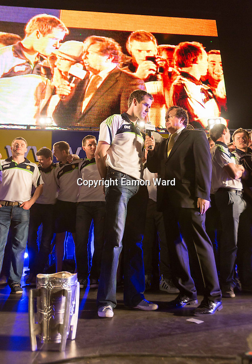 Homecoming celebrations in Ennis for Clare's All Ireland winning hurling teams. Photograph by Eamon Ward
