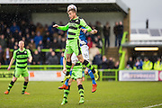 Forest Green's Elliott Frear during the Vanarama National League match between Forest Green Rovers and Eastleigh at the New Lawn, Forest Green, United Kingdom on 20 February 2016. Photo by Shane Healey.