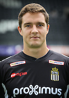 Charleroi's Benjamin Boulenger pictured during the 2015-2016 season photo shoot of Belgian first league soccer team Sporting de Charleroi, Tuesday 14 July 2015 in Charleroi.