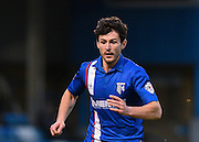 Gillingham defender Aaron Morris during the Sky Bet League 1 match between Gillingham and Swindon Town at the MEMS Priestfield Stadium, Gillingham, England on 6 February 2016. Photo by David Charbit.