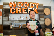 The Woody Creek Distillery booth at the Food & Wine Classic in Aspen.