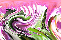 violet pink swirling of fluid shapes with white and green shades and many tones.