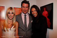 "Tinsley Mortimer, Peter Davis and Anne Caruso attend the opening of ""Lady"" by Douglas Friedman at the Ruffian Gallery on April 23, 2009 in New York City."