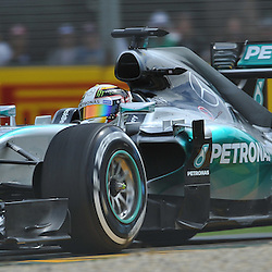 Lewis Hamilton, Mercedes AMG Petronas F1 Team.<br /> Round 1 - Third day of the 2015 Formula 1 Rolex Australian Grand Prix at The circuit of Albert Park, Melbourne, Victoria on the 14th March 2015.<br /> Wayne Neal | SportPix.org.uk