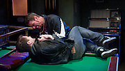 A Handful of Stars <br /> by Billy Roche<br /> at Theatre 503, London, Great Britain <br /> press photocall<br /> 2nd May 2014 <br /> <br /> Keith Duffy as Stapler<br /> <br /> Ciaran Owens as Jimmy <br /> <br /> Maureen O'Connell as Linda<br /> <br /> Brian Fenton as Tony <br /> <br /> Colm Gormley as Conway <br /> <br /> Michael O'Connor as Swan <br /> <br /> Michael O'Hagan as Paddy