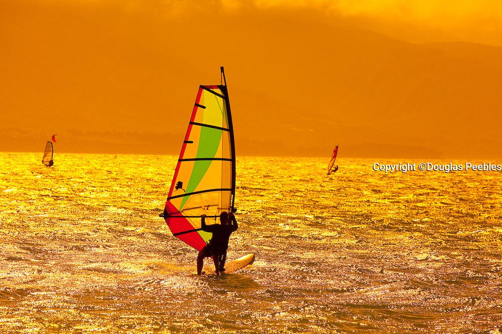 Sunset, Windsurfing, Kanaha Beach Park, Maui, Hawaii
