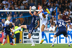 Tom Broadbent of Bristol Rovers and Tom Hopper of Southend United contend for the ball - Mandatory by-line: Ryan Hiscott/JMP - 25/08/2018 - FOOTBALL - Memorial Stadium - Bristol, England - Bristol Rovers v Southend United - Sky Bet League One