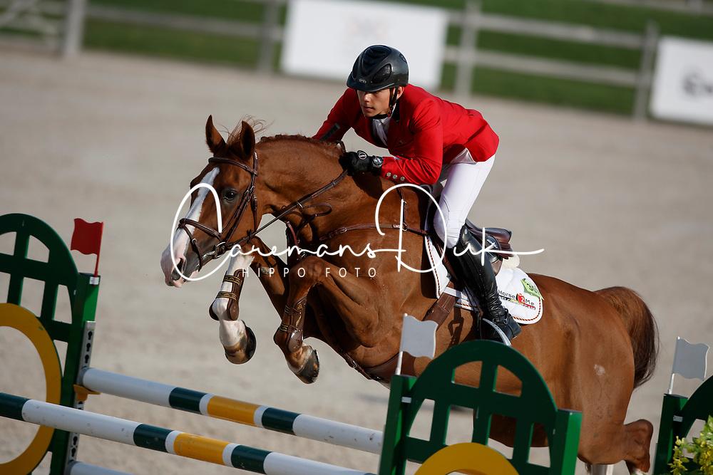 Morssinkhof Simon, BEL, Perigrosso<br /> Juniors European Championships Jumping <br /> Samorin 2017&copy; Hippo Foto - Dirk Caremans<br /> 11/08/2017