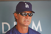 LOS ANGELES, CA - APRIL 29:  Manager Don Mattingly #8 of the Los Angeles Dodgers talks to the media before the game against the Washington Nationals on Sunday, April 29, 2012 at Dodger Stadium in Los Angeles, California. The Dodgers won the game in a 2-0 shutout. (Photo by Paul Spinelli/MLB Photos via Getty Images) *** Local Caption *** Don Mattingly