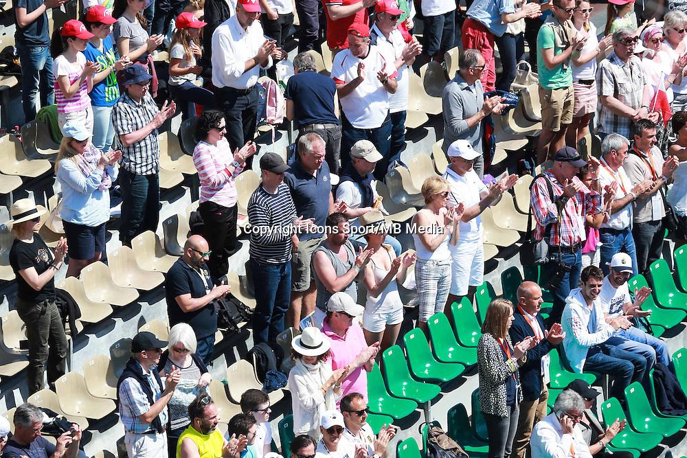 Minute de silence en hommage a Patrice Dominguez   - 13.04.2015 - Tournoi de Monte Carlo 2015 - Masters 1000  <br />Photo : Serge Haouzi / Icon Sport