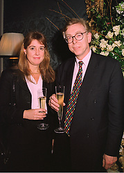 MR ANTHONY COLMAN MP & MRS COLMAN  at a reception in London on 26th March 1998.MGJ 72