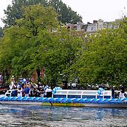 NLD/Amsterdam/20110806 - Canalpride Gaypride 2011, boot Gerard Joling