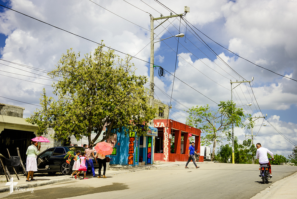 Church members walk home from worship on Sunday, March 19, 2017, outside Amigos de Cristo Iglesia Luterana in Las Americas (Friends of Christ Lutheran Church in the Americas) in Santo Domingo, Dominican Republic. LCMS Communications/Erik M. Lunsford