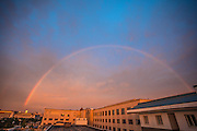 BEIJING, CHINA - AUGUST 03: (CHINA OUT) <br /> <br /> Full Rainbow Appears over Beijing<br /> <br /> A rainbow appears over the city after a rainfall on August 3, 2015 in Beijing, China.<br /> ©Exclusivepix Media