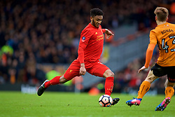 LIVERPOOL, ENGLAND - Saturday, January 28, 2017: Liverpool's Joe Gomez in action against Wolverhampton Wanderers during the FA Cup 4th Round match at Anfield. (Pic by David Rawcliffe/Propaganda)