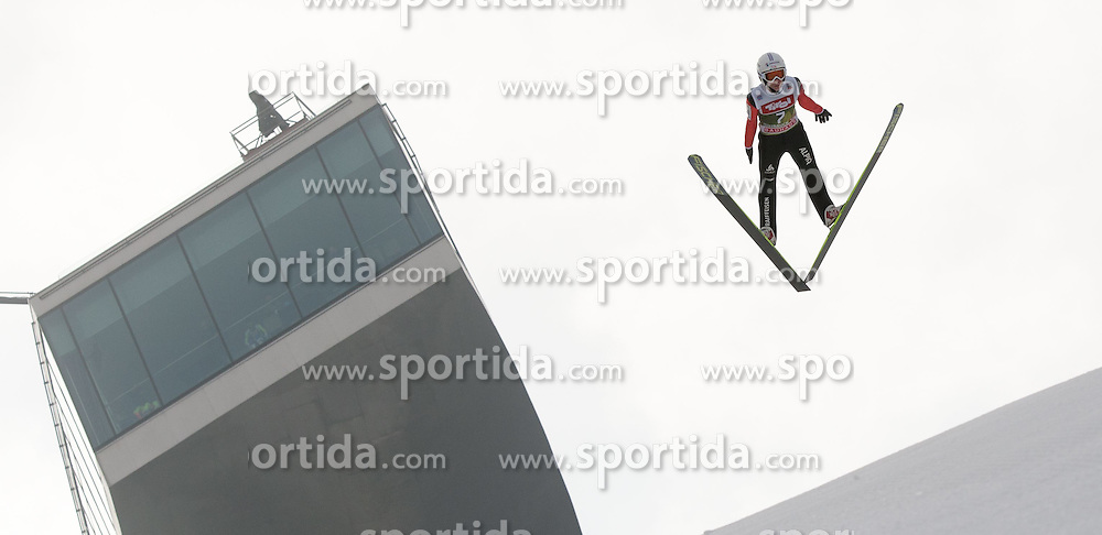 03.01.2015, Bergisel Schanze, Innsbruck, AUT, FIS Ski Sprung Weltcup, 63. Vierschanzentournee, Innsbruck, Training, im Bild Gabriel Karlen (SUI) // Gabriel Karlen of Switzerland soars through the air during a training session for the 63rd Four Hills Tournament of FIS Ski Jumping World Cup at the Bergisel Schanze in Innsbruck, Austria on 2015/01/03. EXPA Pictures © 2015, PhotoCredit: EXPA/ Jakob Gruber