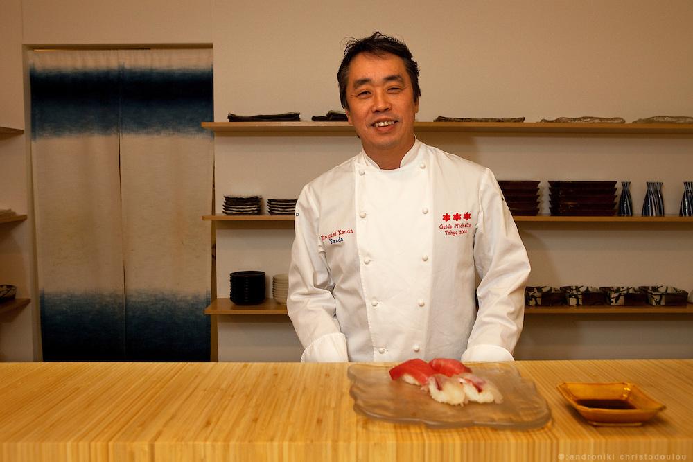 Hiroyuki Kanda at the Kanda restaurant in Tokyo.