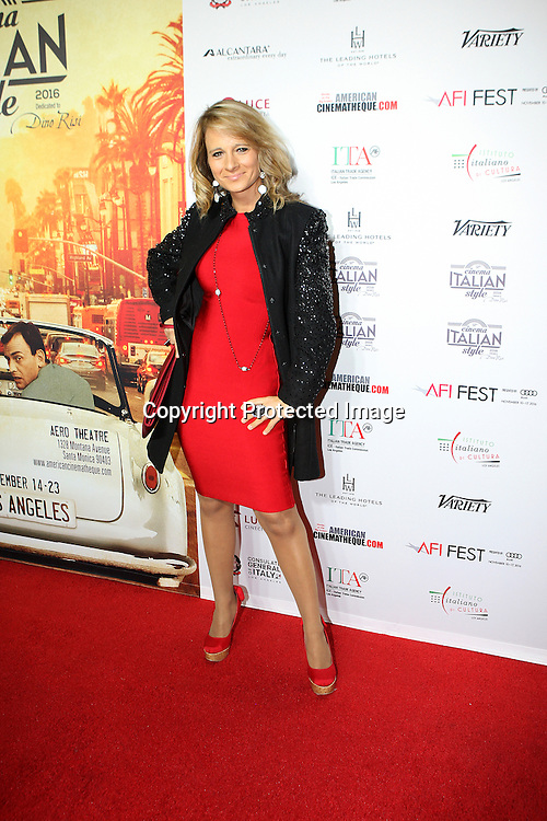 Actress Maria Elena Inafantino attends a Conversation with Gianfranco Rosi and screening of Fire at Sea at AFI Fest 2016 presented by AUDI at the Graumans Egyptian in Hollywood, CA on November 17th