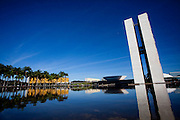 Brasilia_DF, Brasil.<br /> <br /> Congresso Nacional, projetado pelo arquiteto Oscar Niemeyer em Brasilia, Distrito Federal.<br /> <br /> National Congress, designed by architect Oscar Niemeyer in Brasilia, Distrito Federal.<br /> <br /> Foto: JOAO MARCOS ROSA / NITRO