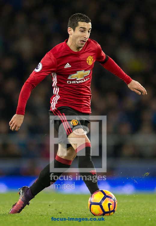 Henrikh Mkhitaryan of Manchester United during the Premier League match at Goodison Park, Liverpool<br /> Picture by Russell Hart/Focus Images Ltd 07791 688 420<br /> 04/12/2016