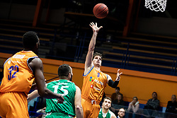 Davor Konjevic KK Helios Suns during 9. round of Slovenian national championship between teams Helios Suns and Zlatorog Lasko in Sport Hall Domzale on 30. November 2019, Domzale, Slovenija. Grega Valancic / Sportida