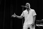Raheem Devaughn performs during Summer Spirit Festival 2018 at Merriweather Post Pavilion in Columbia, MD on Sunday, August 5, 2018.